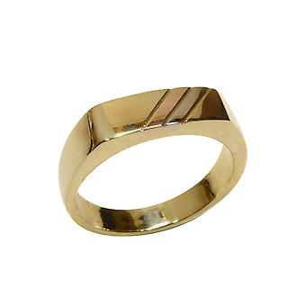Tricolor gold cachet ring