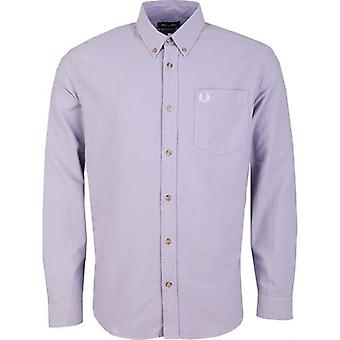 Fred Perry Authentics Over Dyed Long Sleeved Oxford Shirt