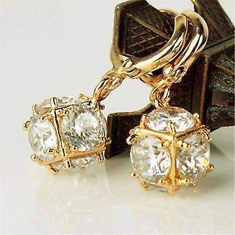 Kristallwürfel baumeln Charme Ohrringe für Frau