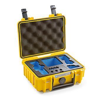 B&W Osmo Case Typ 500 für DJI Osmo Pocket, Gelb Mit Schaumstoffeinsatz