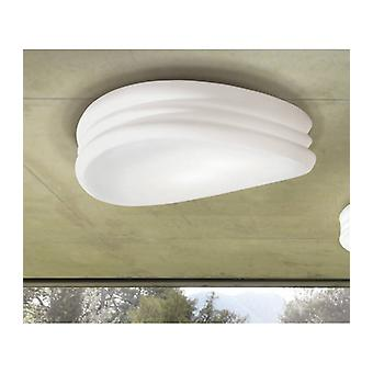 Ceiling / Wall Lamp Mediterraneo 3 Bulbs E27 Large, Frosted White Glass