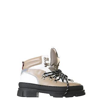 Ganni S1280185 Femmes-apos;bottes de cheville en cuir brun