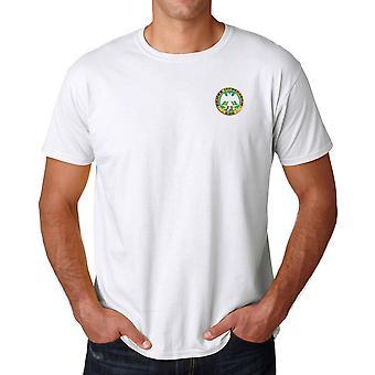 Vojska serba Montenegro militare ricamato Logo - Ringspun Cotone T Shirt
