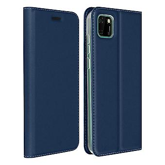 Protective Case Huawei Y5p Cardholder Function Video Holder Dux Ducis Night Blue