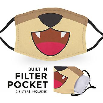 Grizzly Bear Mouth - Reusable Adult Face Masks - 2 Filters Included