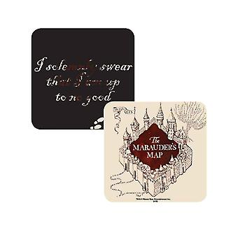 Harry Potter Coaster Lenticular Marauders Map I am up to no good new Official