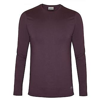 CC Collection Corneliani Burgundy Long Sleeve Jersey T-Shirt
