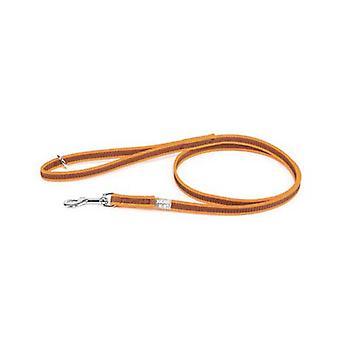 يوليوس-K9 اللون &; رمادي فائقة قبضة المقود - أورانج رمادي العرض (1/2 & نقلا عن/ 14mm) Lenght (4ft / 1.2 م) مع مقبض وO حلقة، ماكس ل66lb/30 كجم الكلب