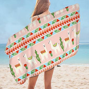 Llamas Microfiber Beach Towel