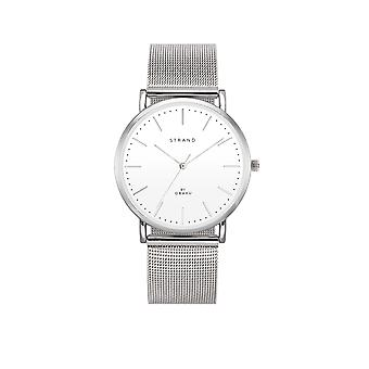 Strand By Obaku S702GXCWMC Hudson-Steel White Dial Wristwatch