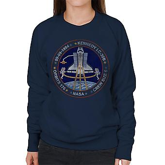NASA STS 64 Discovery Mission Badge Distressed Women's Sweatshirt