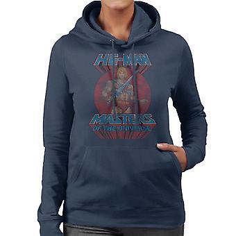 Masters Of The Universe Distressed He Man Power Sword Pose Women's Hooded Sweatshirt
