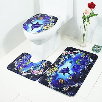 Élégant Anti-slip Eau lavable Absorber bath mat 3pcs Ensemble