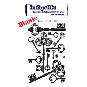 IndigoBlu Keys Dinkie Mounted A7 Rubber Stamps
