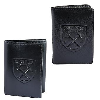 West Ham United Mens Wallet Travel Leather Embossed Crest OFFICIAL Football Gift