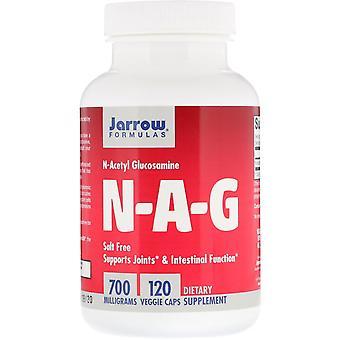 Fórmulas Jarrow, N-A-G, 700 mg, 120 Cápsulas Vegetarianas