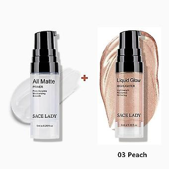 Face Oil Control Make Up - Base Primer + Liquid Highlighter