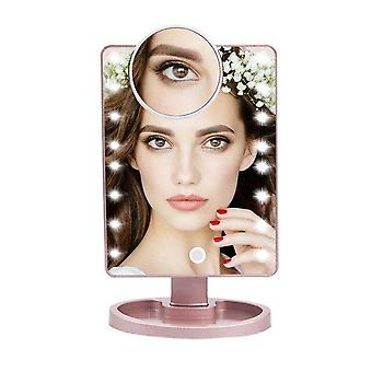 22 eller 16 led lys, Multi Angle justerbar, Touch Screen Makeup Mirror