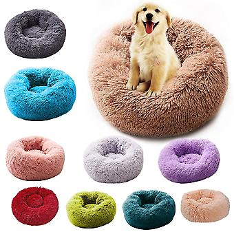 Super Soft Round Washable Basket- Dog Bed