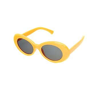 Gafas de sol de color amarillo femenino (H57)