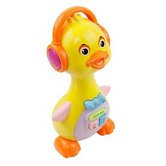1 Piece Baby Musical Toys Duck Lights Action Kids Music With Sound For Girls / Boys Early Education Learning Machine (a)