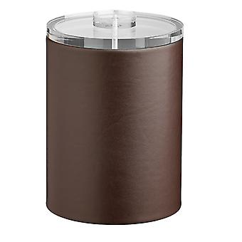 Contempo Brown 2Qt. Tall Ice Bucket With Thick Lucite, No Handle