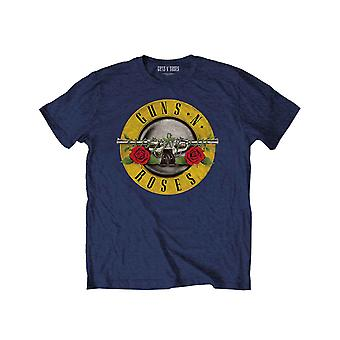Guns N  Roses Kids T Shirt Classic Logo new Official Navy Blue (Ages 3-14 yrs)
