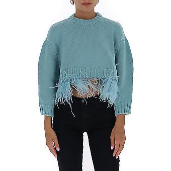 Filosofia Por Lorenzo Serafini 09297109a0336 Women's Light Blue Wool Sweater