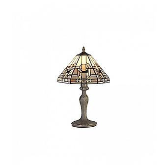 Table Lamp Tiffany Cindy 1 Bulb Gray / White 16 Cm