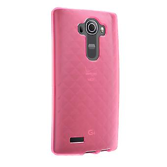 Verizon High Gloss, capa de Silicone para LG G4 VS986 - Pink