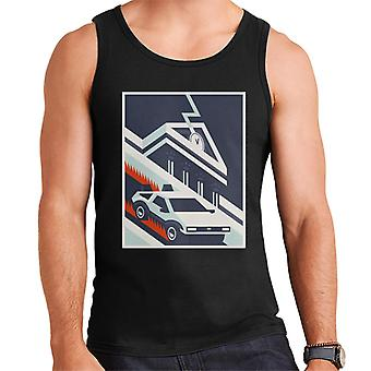 Back to the Future Delorean By Hill Valley Men's Vest