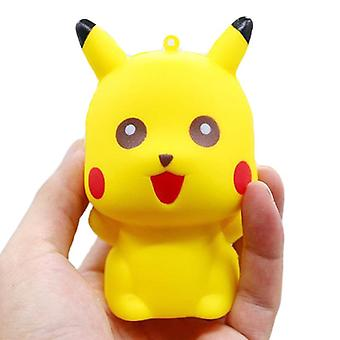 Jumbo Pikachu Squishy Cute Cartoon Doll Phone Straps Squeeze Toys - Slow Rising Bread Scented Stress Relief Fun For Kid Gift Toy (yellow)