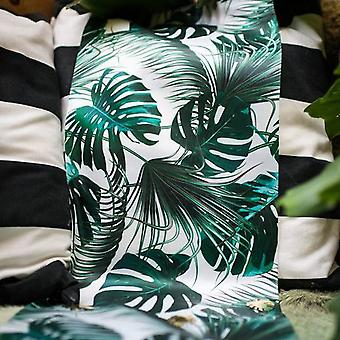 Tropical Leaf Birthday Satin Table Runner 28cm x 5m - Table Decoration