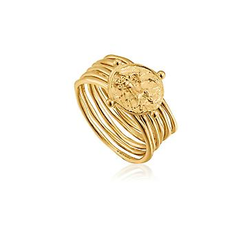 أنيا هاي الذهب حفار لامع الذهب أبولو خاتم R020-02G