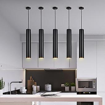 Dimmable Led Pendant Lamp,  Long Tube Lamp Kitchen -decoration Cylinder Pipe