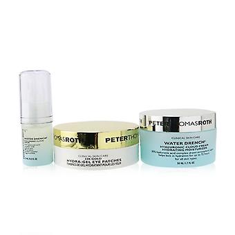 Good To Glow 3-piece Hydration & Glow Kit : 24k Gold Eye Patches 15pairs+hyaluronic Cloud Serum 15ml+hydrating Moist