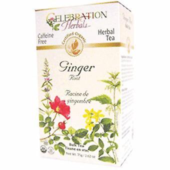 Celebration Herbals Organic Ginger Root Tea, 24 Bags