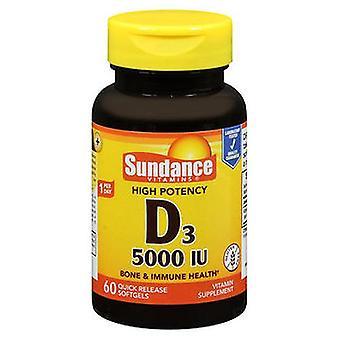 Sundance Sundance Vitamins Vitamin D3 High Potency Softgels, 5000 IU, 60 Tabs