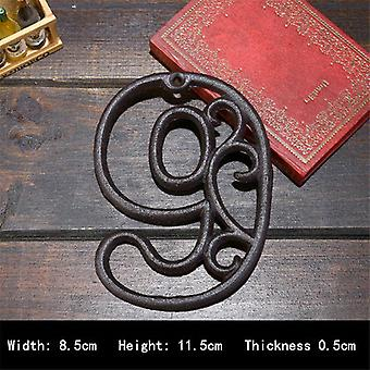 High End Cast Iron Digital Wall Decoration For Cafe Bar Restaurant House Number Plate