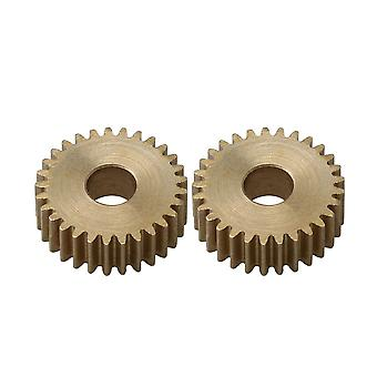 2pcs 0.5 Modulus 29Teeth Flat Precision Copper Pinion Gear 5mm Bore