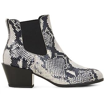 Texas Hogan Damen Knöchel Boot In Reptil Print Leder