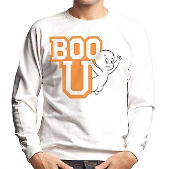Casper The Friendly Ghost Boo You Varisty Men's Sweatshirt