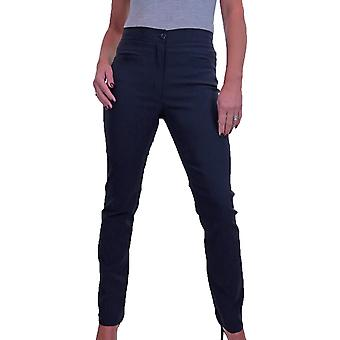 Women's Straight Leg High Waist Trousers Slim Fitted Pants With Pockets 6-16