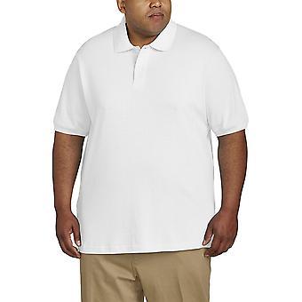 Essentials Men & apos&s Big & Tall Cotton Pique Polo Shirt الذي يناسب DXL, White,...