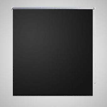 Blackout roller blind 80 x 175 cm black