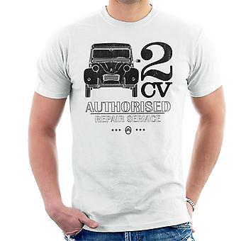Citroen 2CV Valtuutettu korjauspalvelu Musta Logo T-paita