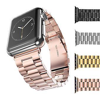 Strapsco solide roestvrijstalen band voor apple iwatch