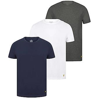 Lyle and Scott Maxwell 3 Pack T-Shirts - White/Grey/Peacoat Navy