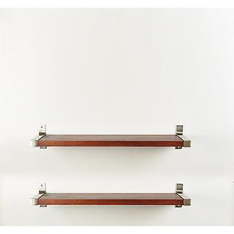 2 piezas Industrial Modern Wood Wall Shelf Set 7.75'' X 38''