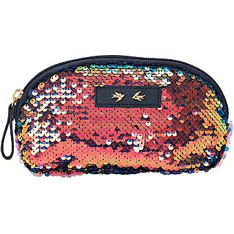 Trend Love Handbag With Sequins Multifunctional Toiletry Bag For Girls